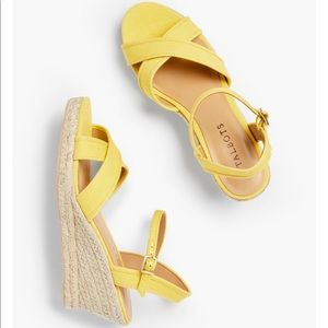 Talbots Lyndsay Crossover Espadrille Canvas Wedges
